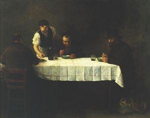 Le Repas des Pauvres 1877 by Alphonse Legros 1837-1911
