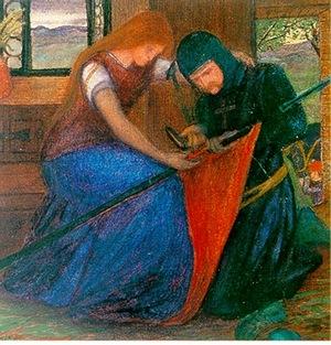 Lady afixing a pennanblog.jpgt