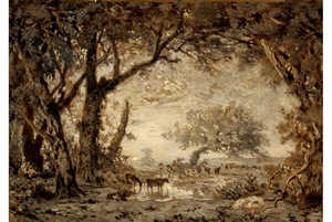 Théodore-Rousseau-Sunset-from-the-Forest-of-Fontainebleaublog