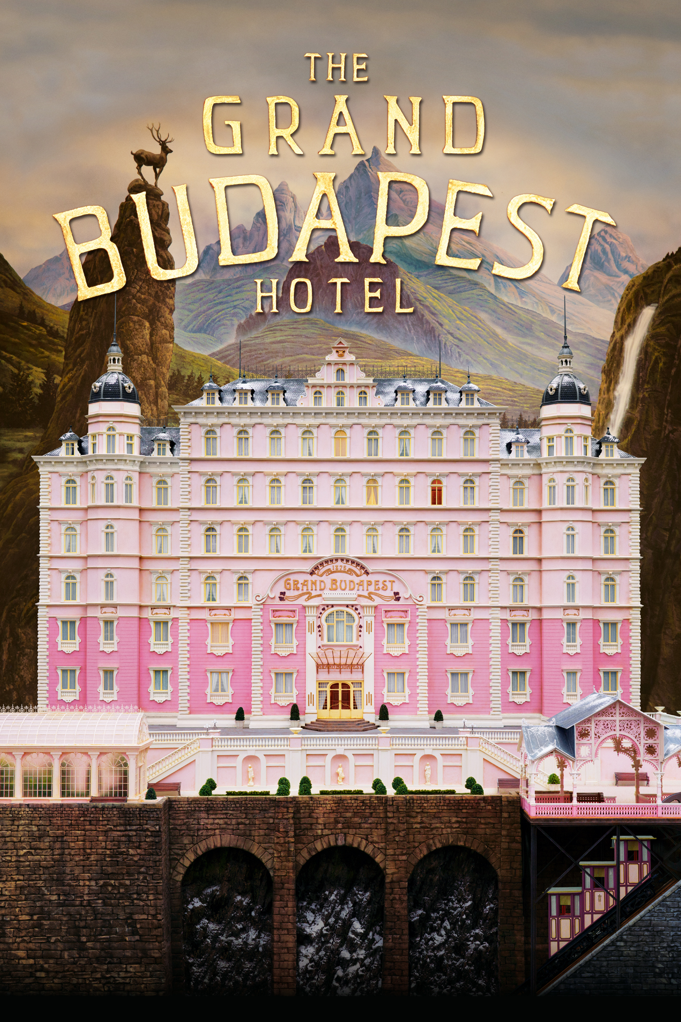 the grand budapest hotel wild caricature ellen and jim have a hotel