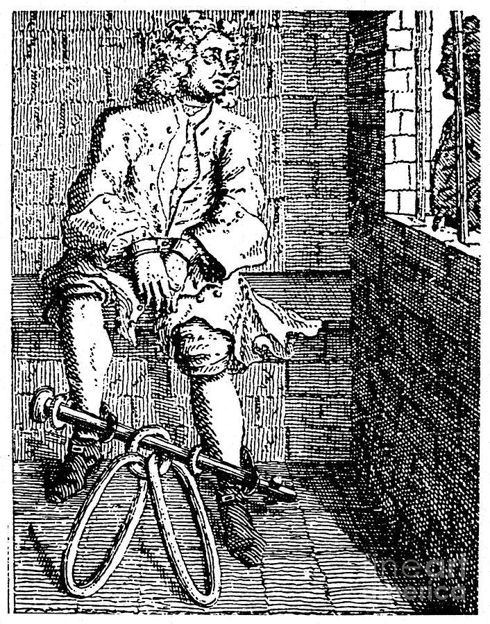 London Debtors Prison Na Debtor In Fetters At