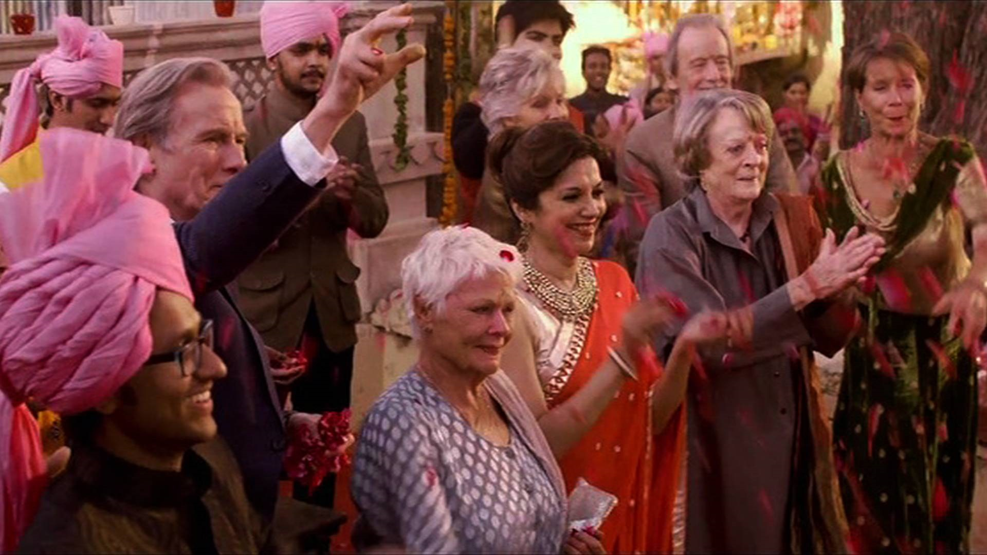 Hasil gambar untuk THE BEST EXOTIC MARIGOLD HOTEL movie scene