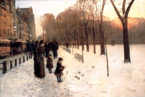 Boston Common At Twilight-Hassam