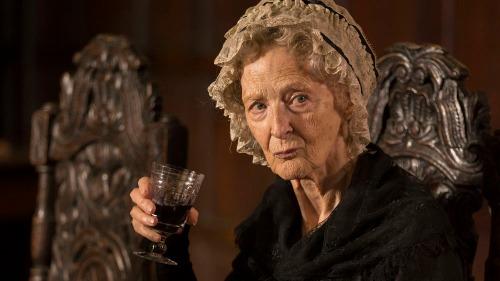 Programme Name: Poldark - TX: n/a - Episode: episode 1 (No. n/a) - Picture Shows: Aunt Agatha.  Aunt Agatha (CAROLINE BLAKISTON) - (C) BBC - Photographer: Adrian Rogers