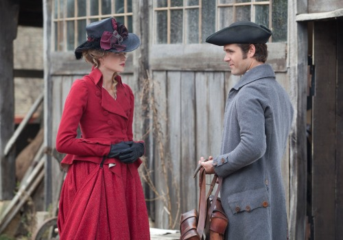 WARNING: Embargoed for publication until 00:00:01 on 13/09/2016 - Programme Name: Poldark - TX: n/a - Episode: episode 3 (No. n/a) - Picture Shows: Caroline Penvenen and Dwight Enys.  Caroline Penvenen (GABRIELLA WILDE), Dwight Enys (LUKE NORRIS) - (C) BBC - Photographer: Jon Hall
